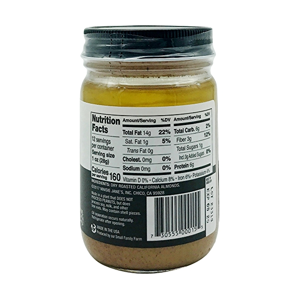 Smooth Almond Butter, 12 oz 2