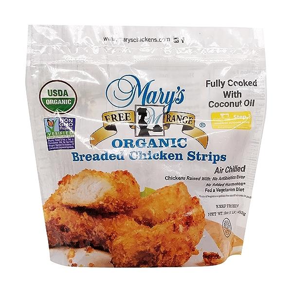 Organic Breaded Chicken Strips 1