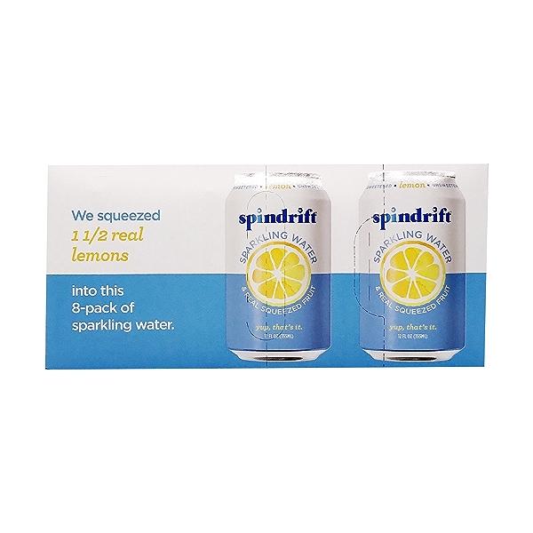 Lemon Sparkling Water 8 Pack, 12 fl oz 1