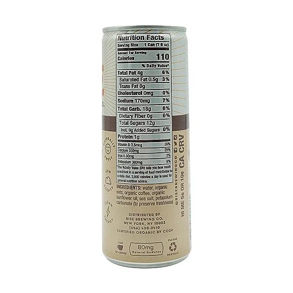 Organic Oat Milk Latte Nitro Cold Brew Coffee, 7 fl oz 2