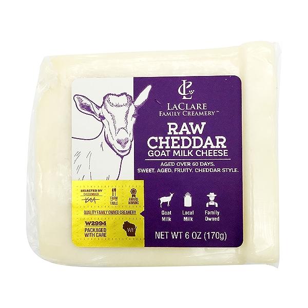 Raw Goat Cheddar, 6 oz 1