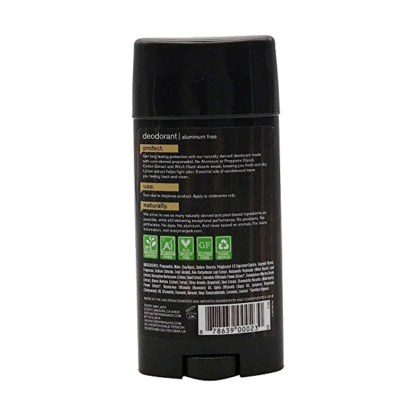 Organic Aluminum Free Sandalwood Deodorant, 3 oz e 2