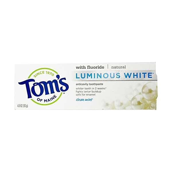 Tom's Clean Mint Luminous White Toothpaste, 4 oz 1