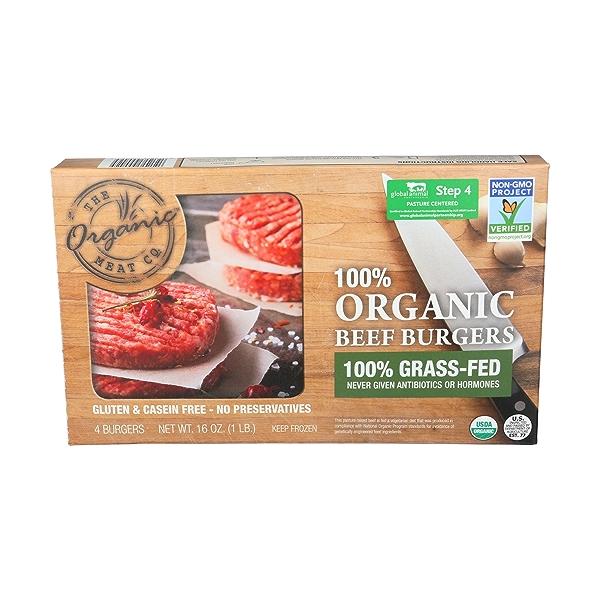 Organic Beef Burgers 1