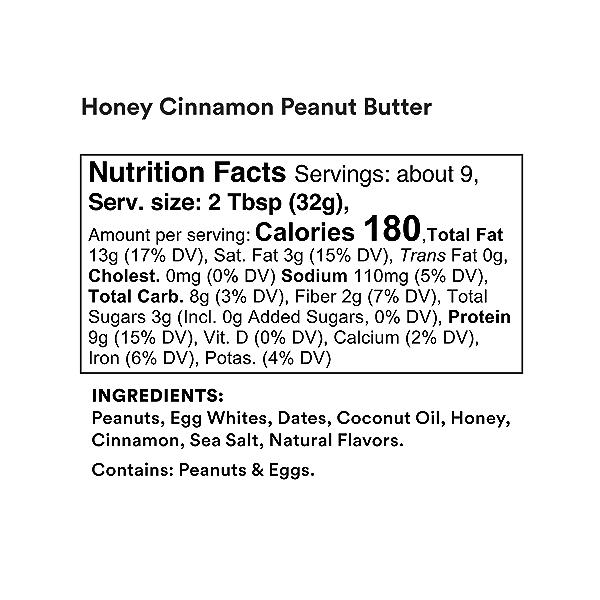 Honey Cinnamon Peanut Butter Nut & Protein Spread, 10 oz 2