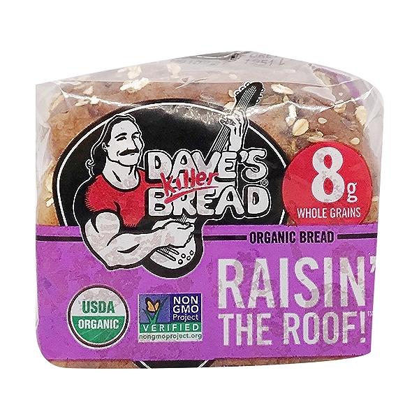 Organic Raisin The Roof Bread, 18 oz 5