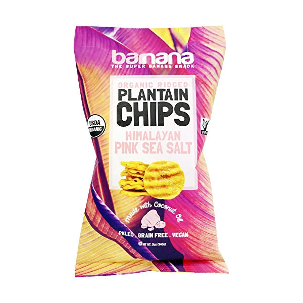 Organic Pink Sea Salt Plantain Chips, 5 oz 1