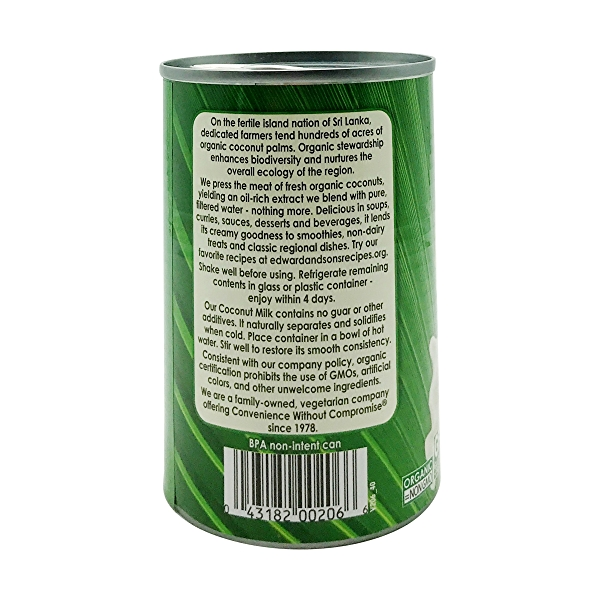 Unsweetened Organic Coconut Milk, 13.5 fl oz 3