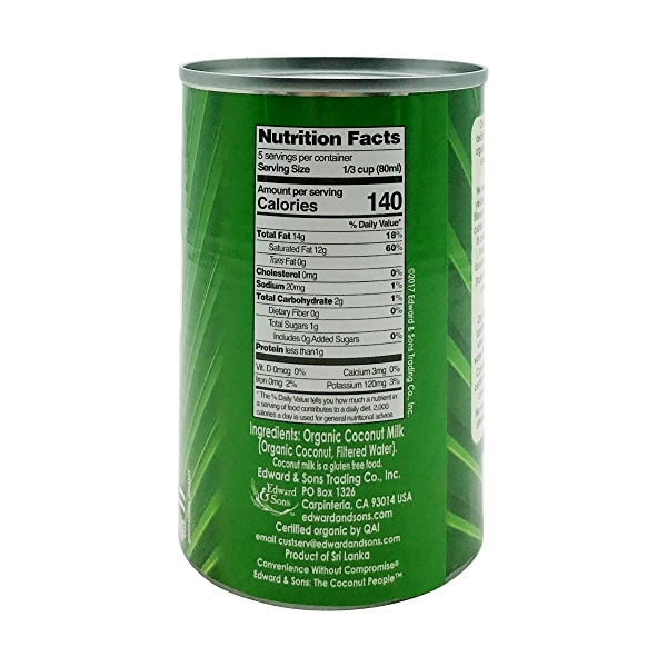 Unsweetened Organic Coconut Milk, 13.5 fl oz 2