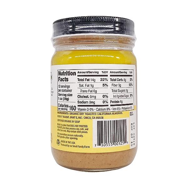 Organic Almond Butter Smooth, 12 oz 2