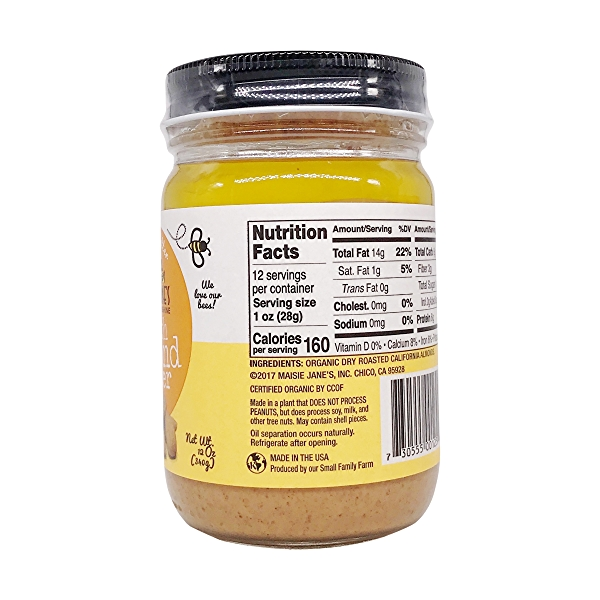 Organic Almond Butter Smooth, 12 oz 5