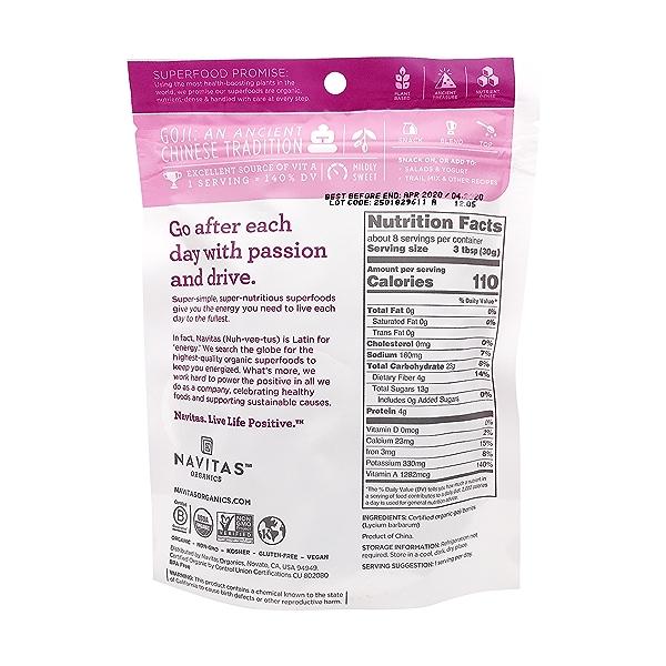Organic Goji Berries, 8 oz 2