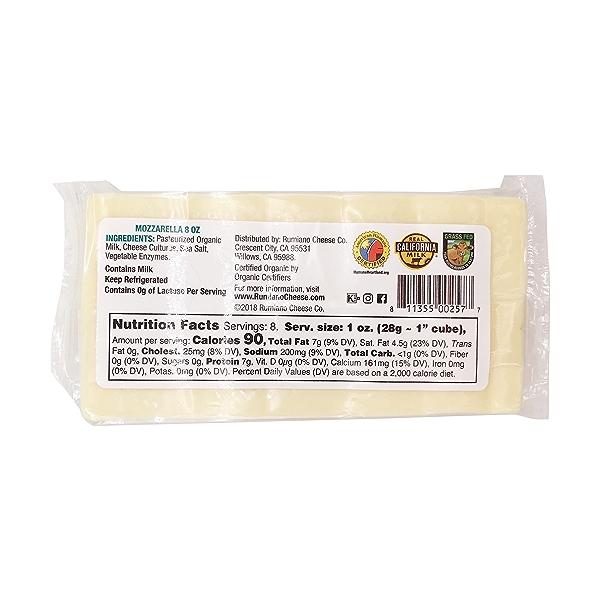 Organic Mozzarella Cheese 2