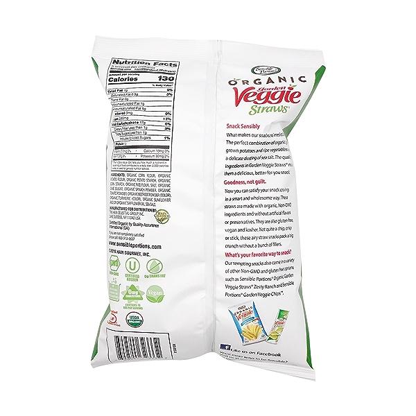 Organic Sea Salt Veggie Straws, 5 oz 2