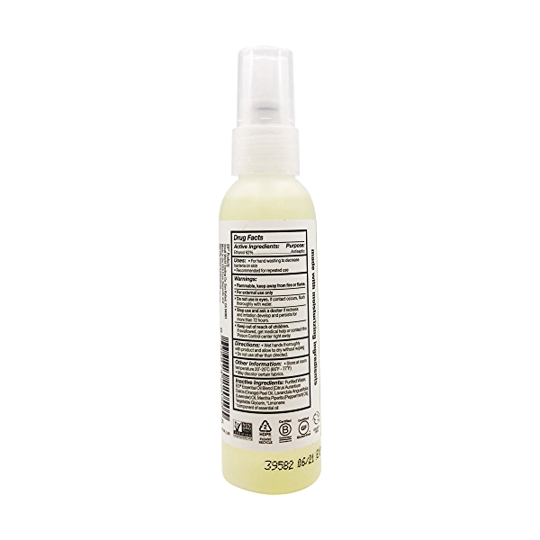 Peppermint & Citrus Hand Sanitizer Spray, 2 fl oz 3