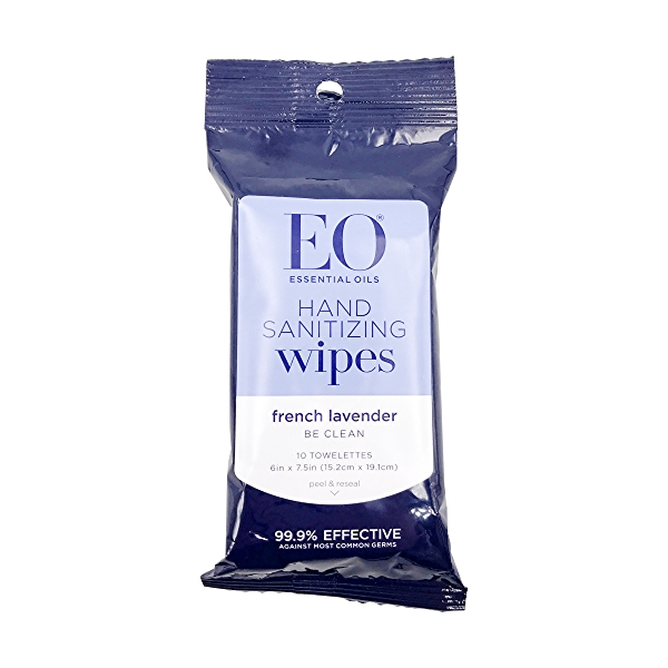 Cleansing Lavender Hand Wipes, 6 in x 1