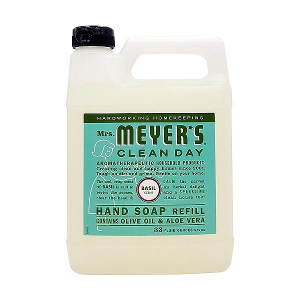 Basil Liquid Hand Soap Refill, 33 fl oz 1