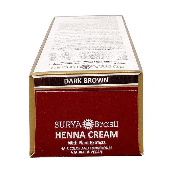 Dark Brown Henna Cream, 2.37 fl oz 5