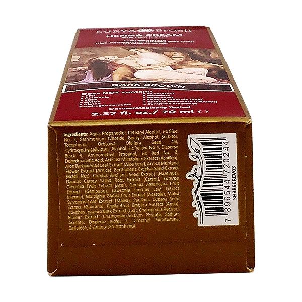 Dark Brown Henna Cream, 2.37 fl oz 6