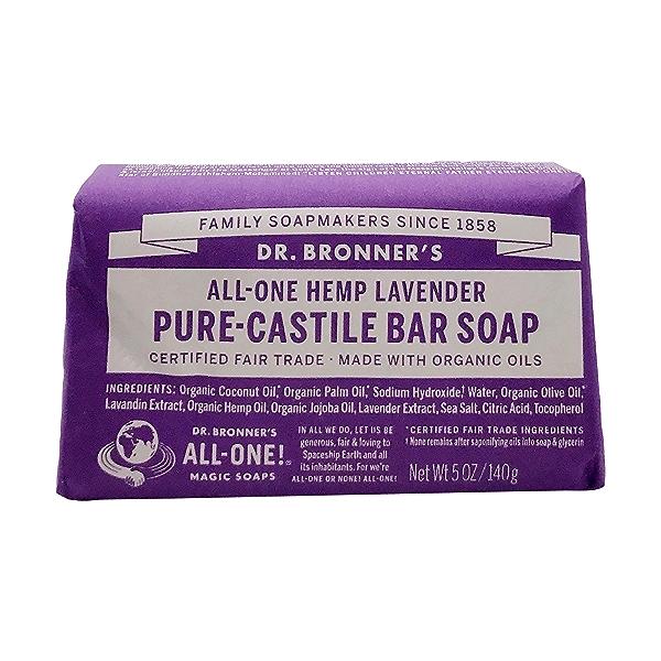 Fairtrade Hemp Lavender Soap Bar, 5 oz 1