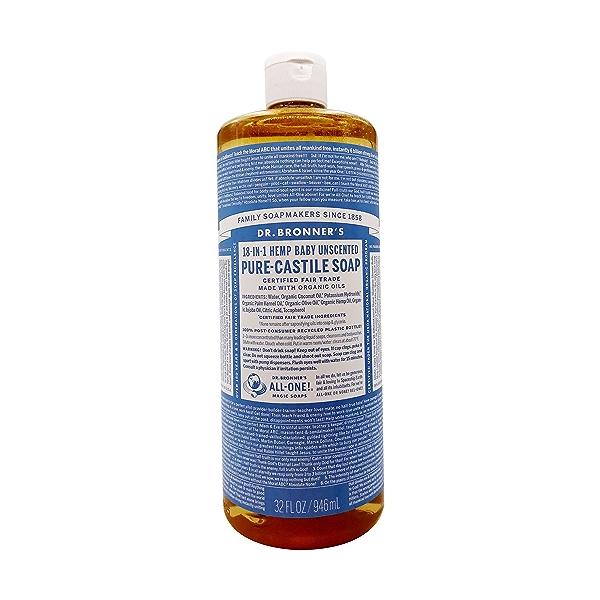 Organic Castile Baby Mild Liquid Soap, 32 fl oz 1