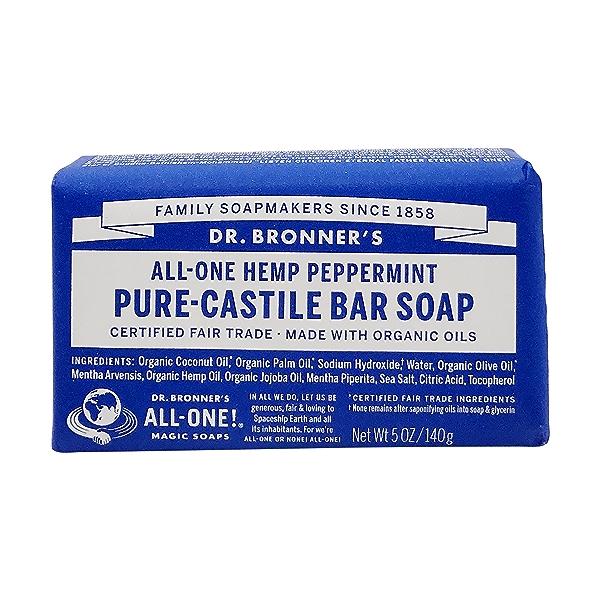 Fairtrade Hemp Peppermint Soap Bar, 5 oz 1