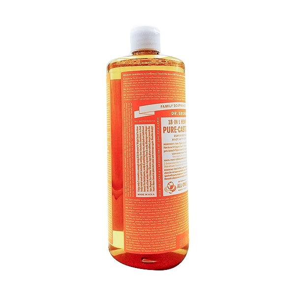 Fairtrade Organic Citrus Orange M/w Oils Liquid Soap, 32 fl oz 4