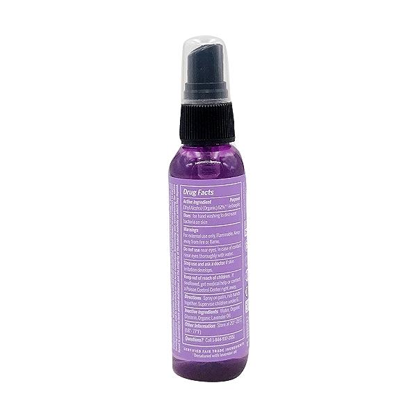 Organic Lavender Hand Sanitizing Spray, 2 fl oz 3