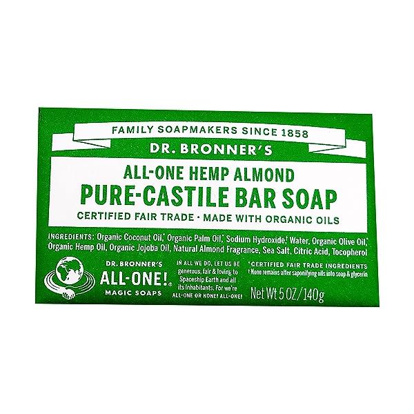 Fairtrade Almond Soap Bar, 5 oz 1
