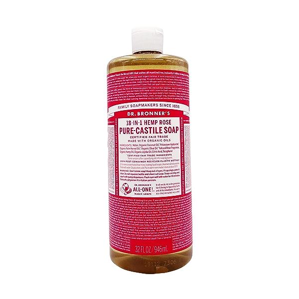 Fairtrade Organic Rose M/w Oils Liquid Soap, 32 fl oz 1