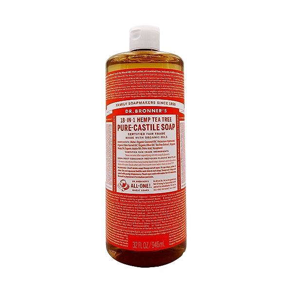 Tea Tree Castile Liquid Soap, 32 fl oz 1