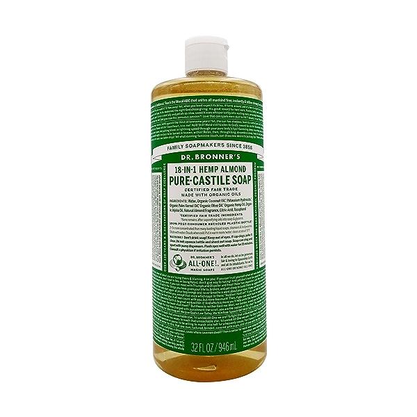 Organic Castile Almond Liquid Soap, 32 fl oz 1