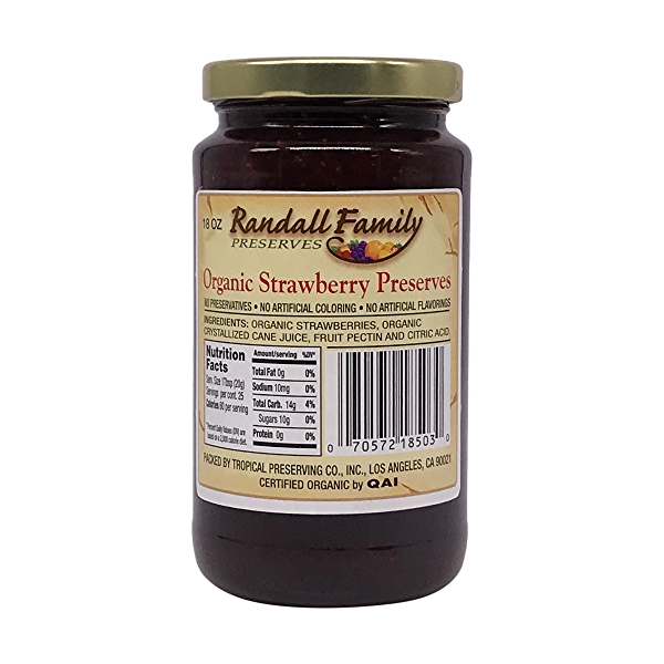 Organic Strawberry Preserve, 18 oz 2