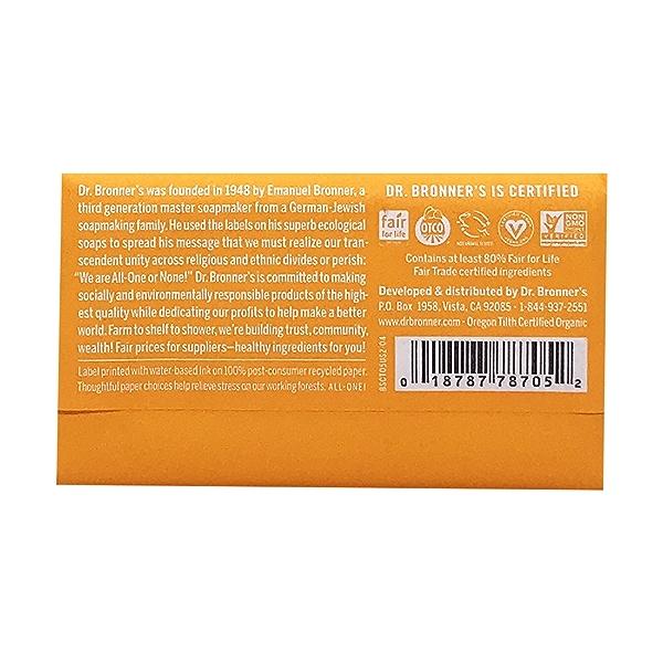 Fairtrade Hemp Citrus Hemp Soap Bar, 5 oz 2