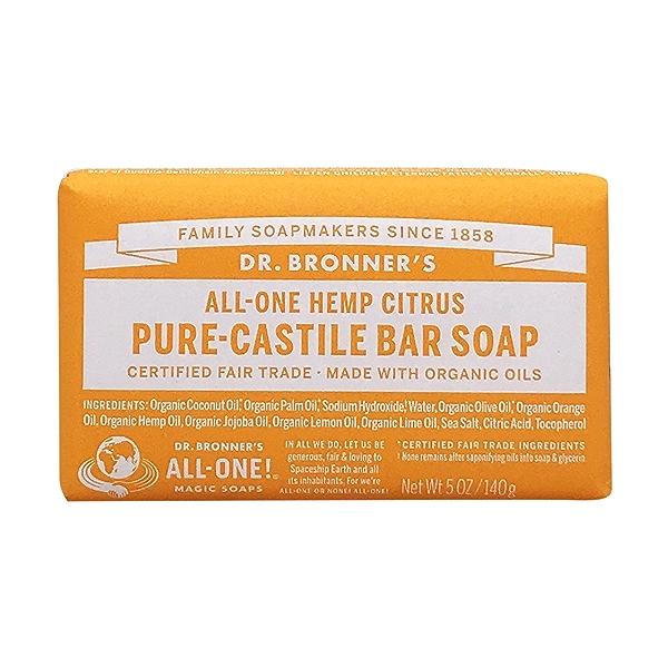 Fairtrade Hemp Citrus Hemp Soap Bar, 5 oz 1