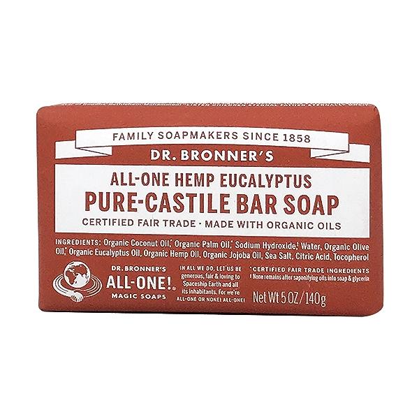Fairtrade Hemp Eucalyptus Soap Bar, 5 oz 1