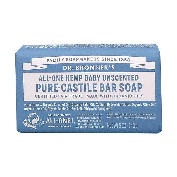 Fairtrade Baby Hemp Unscented Soap Bar, 5 oz 1