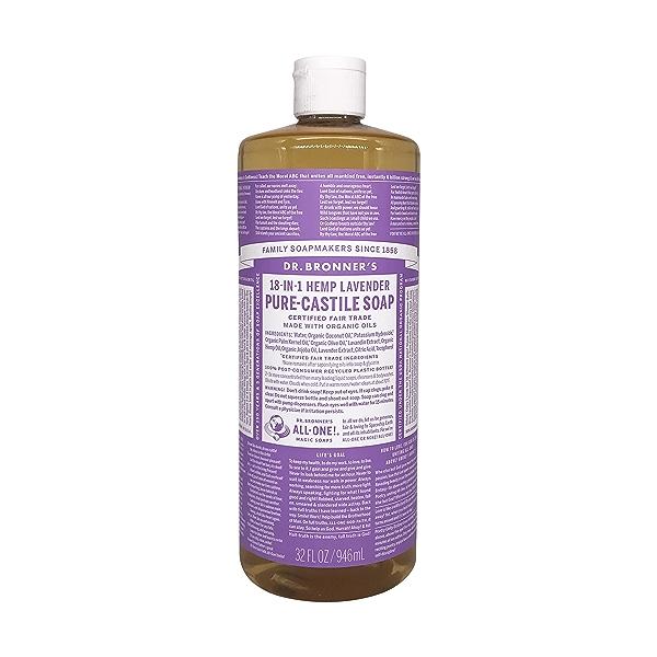 Organic Castile Lavender Liquid Soap, 32 fl oz 1