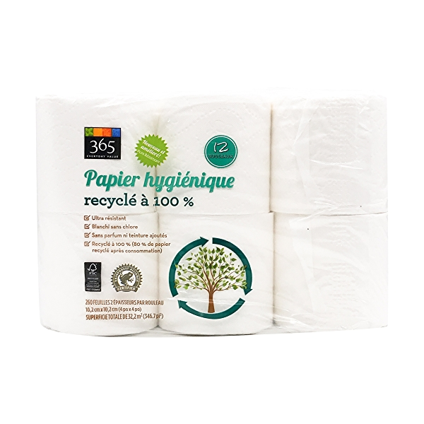 Bath Tissue Double Roll 260 Sheet 12 Count 1
