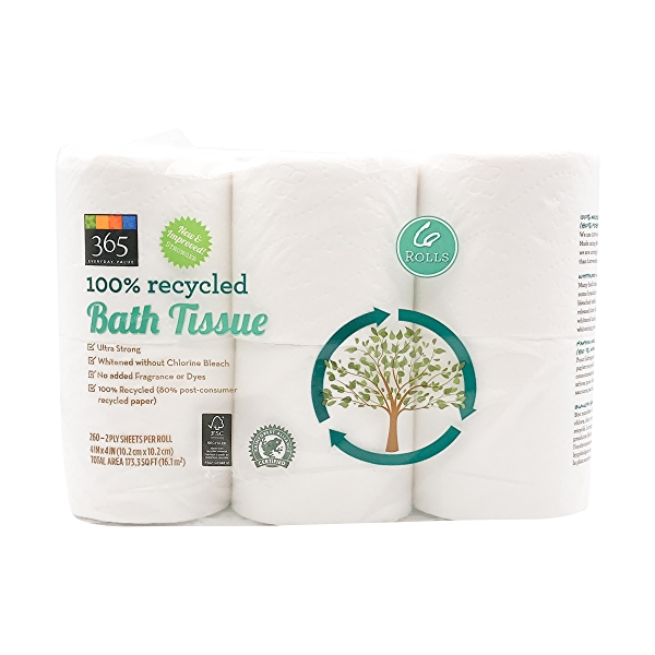 Bath Tissue Double Roll 260 Sheet 6 Count 1