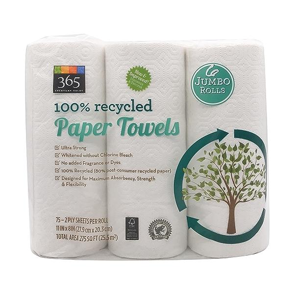 Paper Towels 75 Sheet Jumbo Rolls 6 Count, 1 each 2