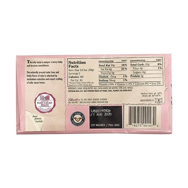 34% Ruby Cacao Bar, 3.1 oz 2