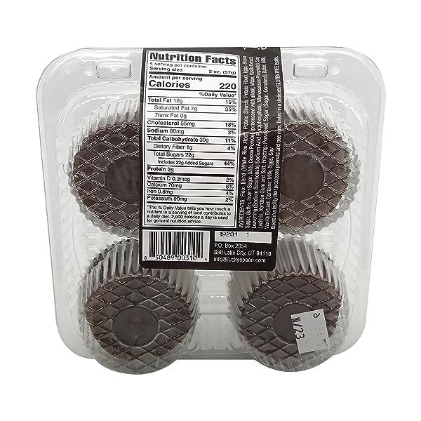 Cupcake, Gf Chocolate 4ct Nat Cs, 8 oz 2