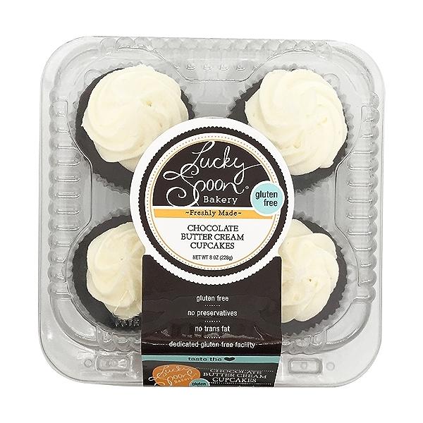 Cupcake, Gf Chocolate 4ct Nat Cs, 8 oz 1