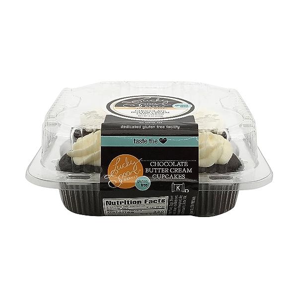 Cupcake, Gf Chocolate 4ct Nat Cs, 8 oz 4