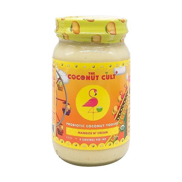 Mango & Cream Probiotic Coconut Yogurt, 8 fl oz 1
