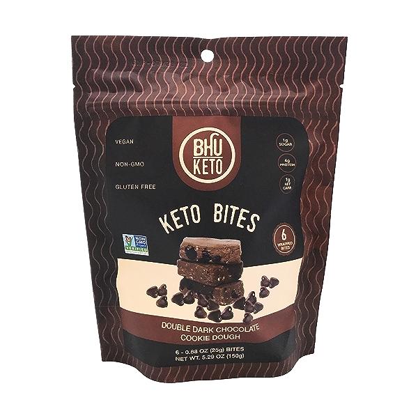 Keto Double Dark Chocolate Chip Cookie Dough Bites, 5.29 oz 1