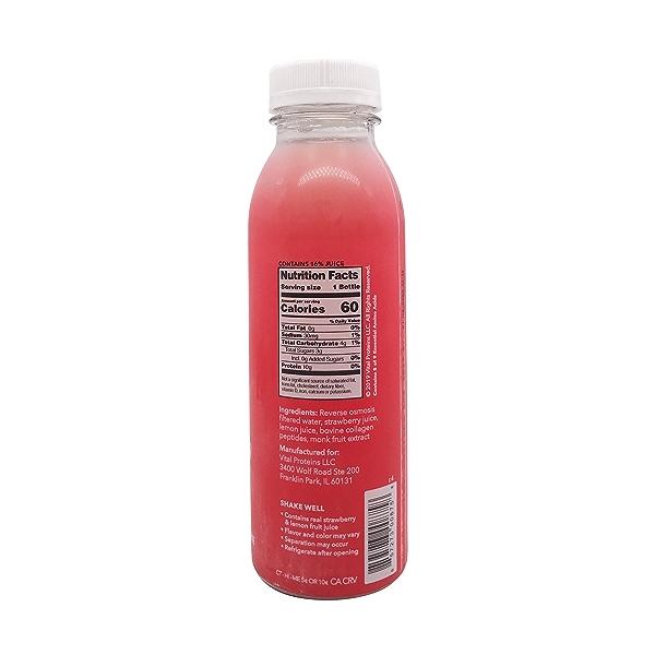 Strawberry Lemon Collagen Water, 12 fl oz 2