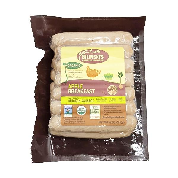 Organic Apple Chicken Breakfast Sausage 1