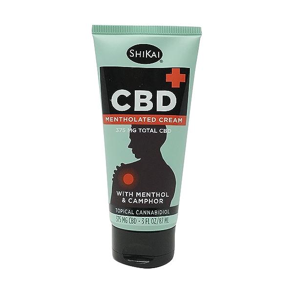 CBD+ Mentholated Cream with Menthol & Camphor, 3 fl oz 1